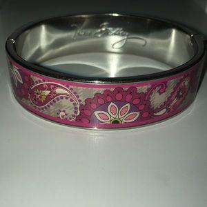 Vera Bradley Pink Paisley Metal Bracelet